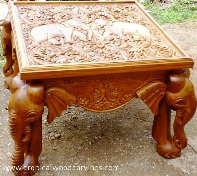 Coffee Tables CT  Teak or Mahogani - Tropical Wood Carvings